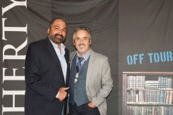with Franco Harris, Photo by Sarah Collins